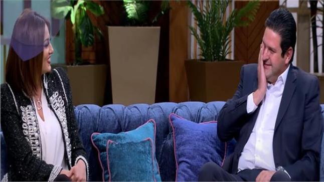 الفنانة بشرى السبب في بكاء زوجها على الهواء في برنامج معكم