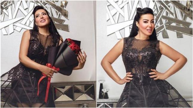الفنانة سمية الخشاب تحتفل بعيد ميلادها على أغنية الجمال عدى الكلام