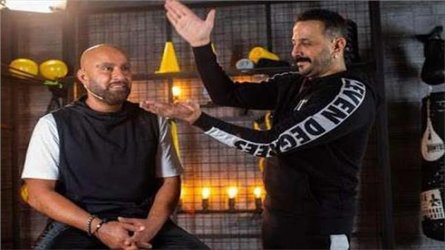 الفنان قصي خولي مع الفنان أحمد السقا سويا في فيلم السرب