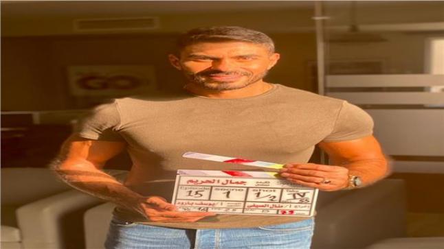 صورة الفنان خالد سليم في كواليس مسلسل جمال الحريم